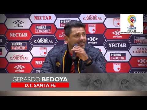 [Rueda de prensa Gerardo Bedoya] Santa Fe (2) – Rionegro (2) :: Liga Águila I - 2019