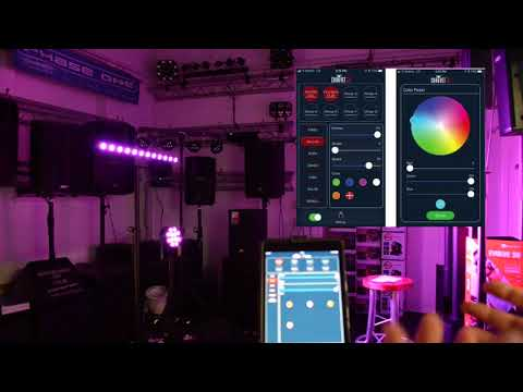 Chauvet slimpar t12 bt & colourband t3 bt @ Phase One DJ Store