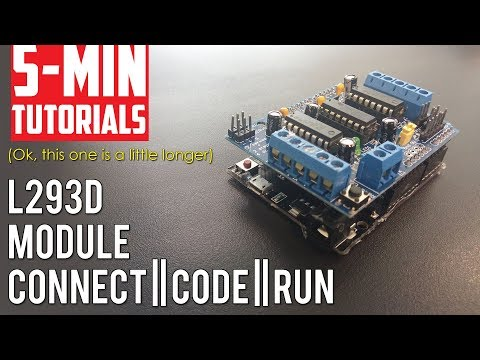 L293D Motor Control Module Tutorial - Run Motors Off The Arduino