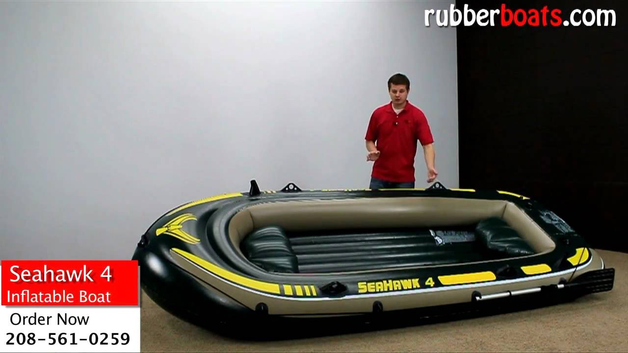 Intex Seahawk 4 Inflatable Fishing Boat Video Review by ...