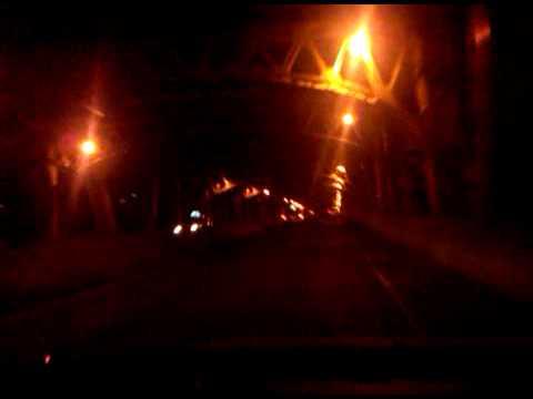 Driving across the 49th street bridge at 330am
