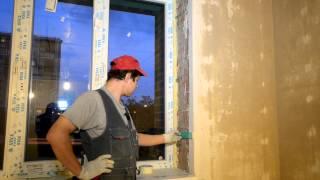 Монтаж откосов без ПВХ уголков (полная версия)(Рассказываю как мы делаем пластиковые откосы на окна. Плюсы откосов из сэндвич панелей: -теплые -легко мыть..., 2012-10-15T05:49:06.000Z)