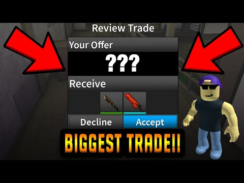 PRISMAN JUST TRADED ME THE RAREST KNIFE IN THE GAME... (ROBLOX ASSASSIN)