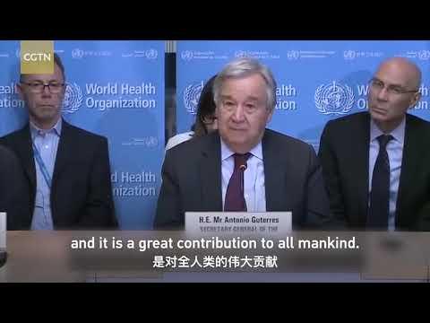 UN chief praises