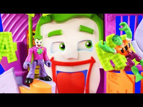 Imaginext Joker Pretend Transforms Into Incredible Hulk | Superhero League 12