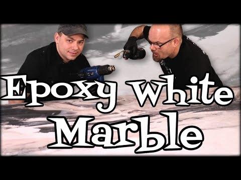Epoxy White Marble