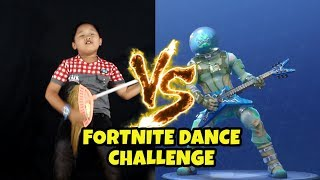 FORTNITE DANCE CHALLENGE in REAL LIVE (KOCAK BANGET) | Uyyus Fun Video