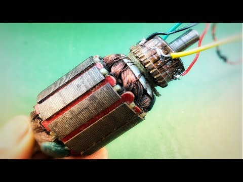 Electricity Motor Generator 220V AC From 12V DC , Free Energy , Science Experiment Project 2018
