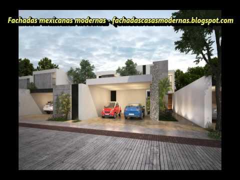 Top 15 fachadas de casas mexicanas modernas residenciales for Fachadas de casas modernas youtube
