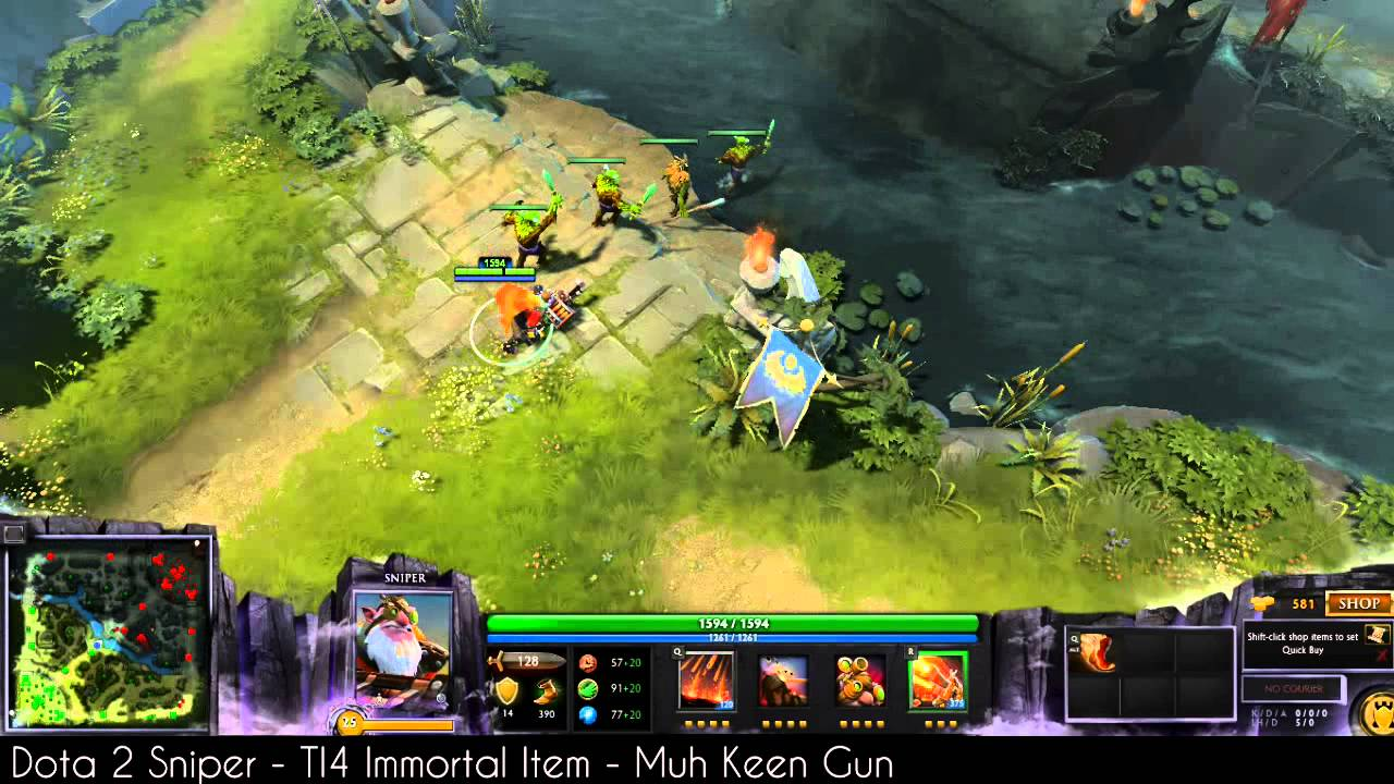Dota 2 Sniper TI4 Immortal Item Muh Keen Gun YouTube