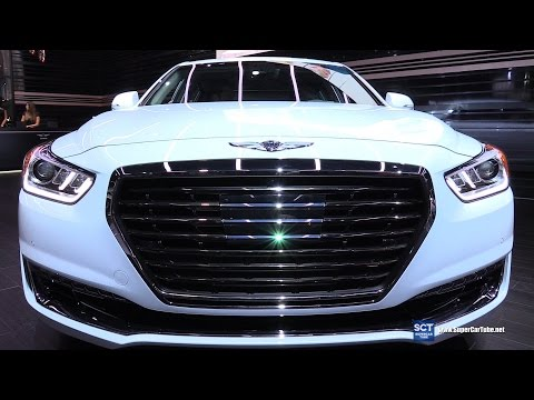 2018 Genesis G90 V8 5.0L Luxury Exterior Walkaround 2016 LA Auto Show