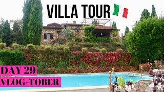 Italian Villa Tour  -  SO COOL!  |  VLOGTOBER Day 29, 2018