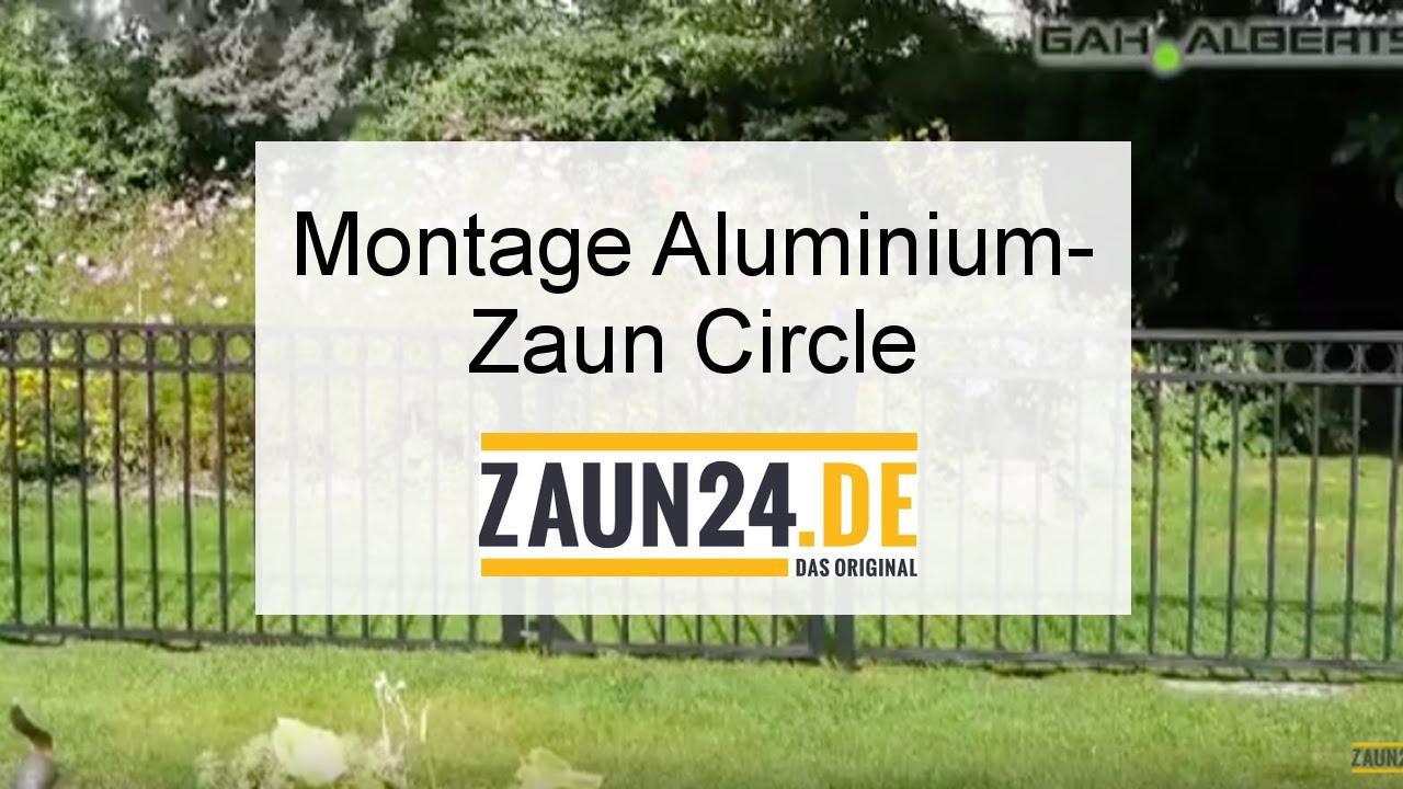 Montageanleitung Aluminium Zaun Circle und Chaussee