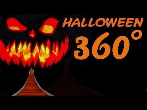 360° HALLOWEEN VR spooky rollercoaster POV HORROR 360 도 롤러코스터 탐험 ジェットコースター