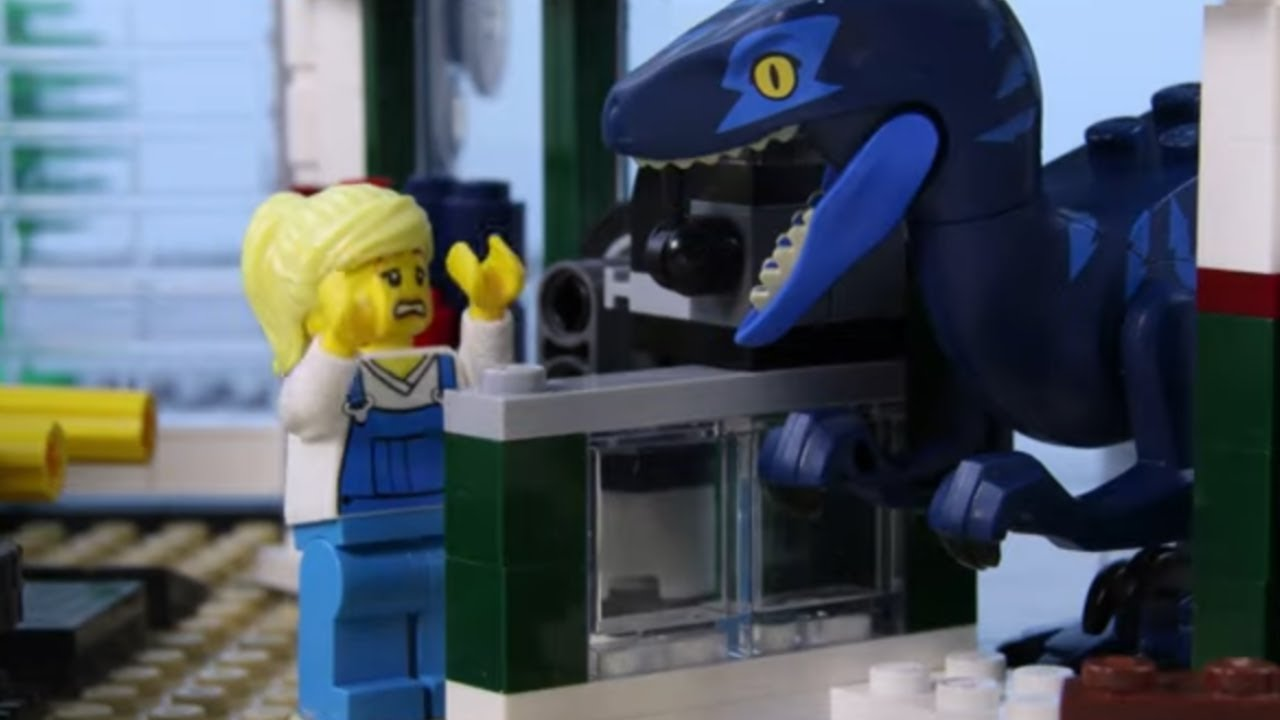 LEGO Jurassic World Dino Experimental Vehicle STOP MOTION | LEGO Dinosaurs | Billy Bricks