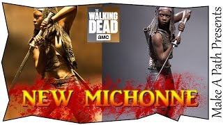 NEW Michonne Figure & Red/Blue Wave McFarlane Toys Color Tops