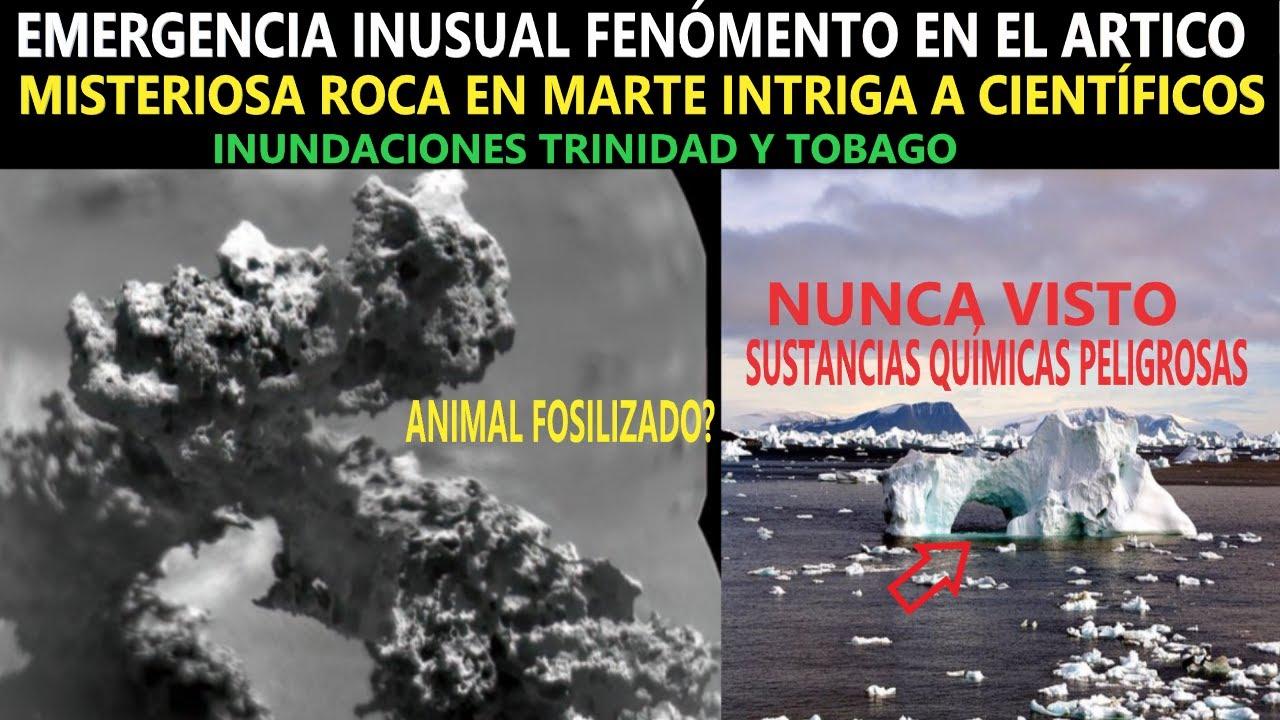 EMERGENCIA POR LIBERACIÓN DE SUSTANCIAS QUÍMICAS / MISTERIOSA ROCA EN MARTE ¿UN ANIMAL? / INUNDACIÓN