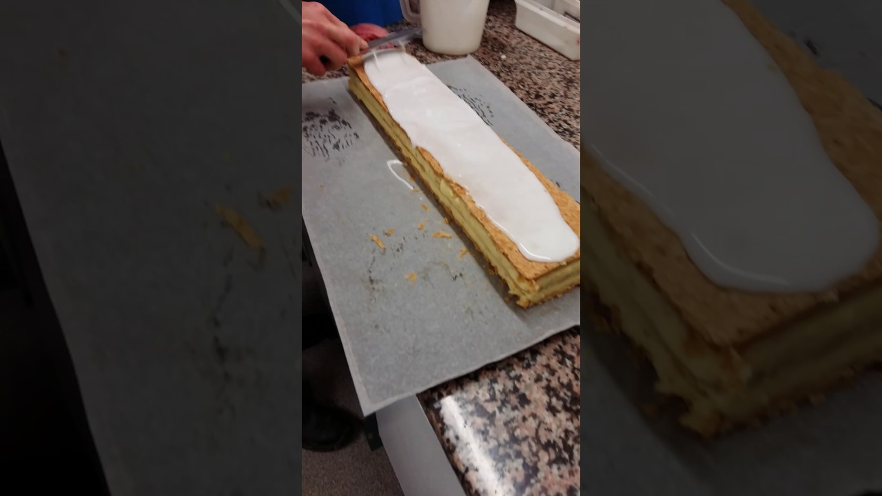 Glacage Pour Mille Feuille Facons Professionnels Youtube
