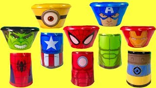 Superheroes Captain America Minions Hulk Iron Man Surprises