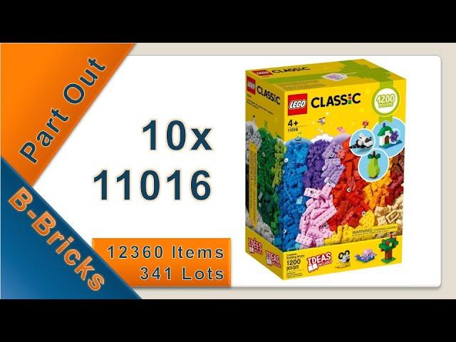 Part Out Party 10x Lego Classic 11016, 12.360 Teile für BrickLink
