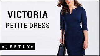 Petite Navy dress - Victoria Navy pencil dress by Jeetly
