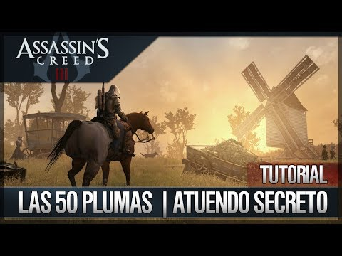 Assassin's Creed 3 - Walkthrough - Localización de todas las 50 plumas - Atuendo Secreto