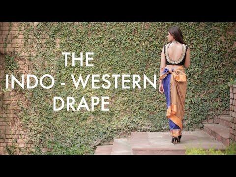 The Saree Series I The Art of Draping I The Indo - Western Drape I #BringingSareeBack