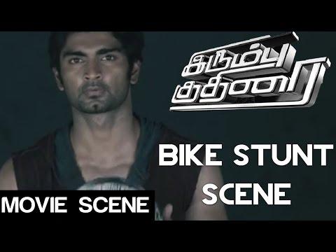 Irumbu kuthirai - Bike Stunt Scene | Atharvaa | Priya anand | Yuvaraj Bose