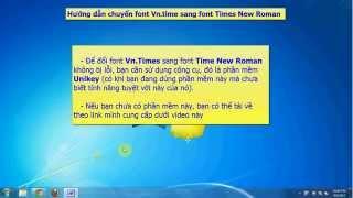 Cách chuyển font Vn.times sang Times New Roman không bị lỗi