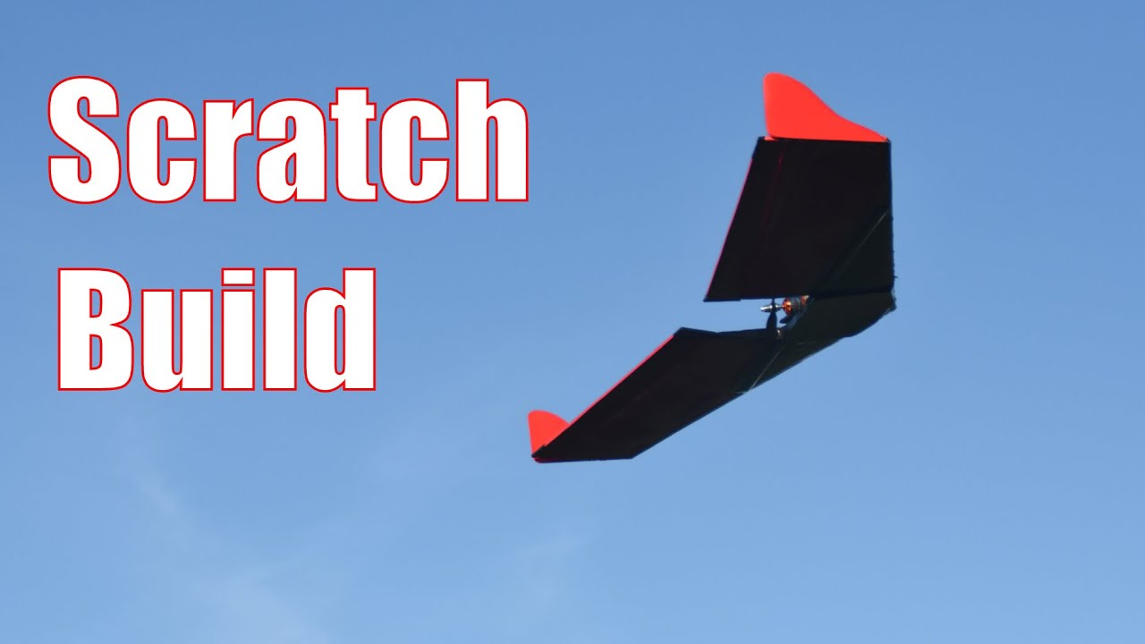 RC Flying Wing Scratch Build out of Foam: ends with a crash
