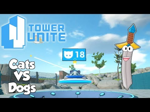 CATS VS DOGS! - Tower Unite with Friends - Tower Unite Planet Panic