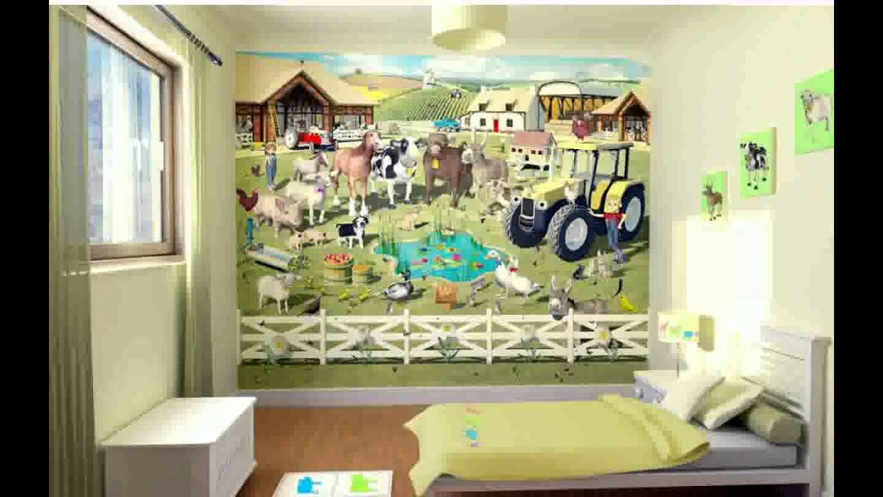 Wallpaper Childrens Bedrooms Ideas Decoration Youtube