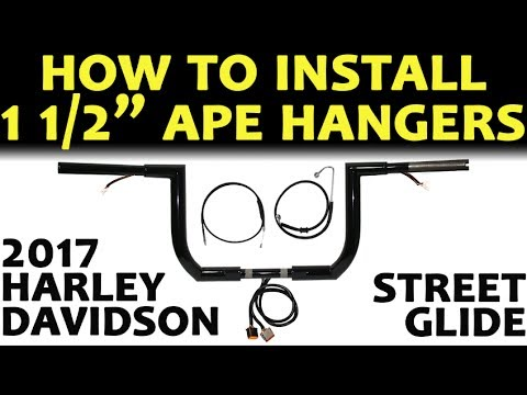 How to Install (STEP BY STEP) Ape Hangers Handlebars on Harley Davidson Street Glide