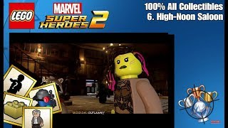 LEGO Marvel Super Heroes 2 - 100% All Collectibles - High-Noon Saloon