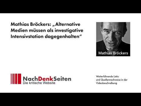 "Mathias Bröckers: ""Alternative Medien müssen als investigative Intensivstation dagegenhalten"""