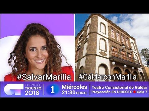 Gáldar muestra su apoyo a Marilia Monzón concursante de Operación Triunfo 2018