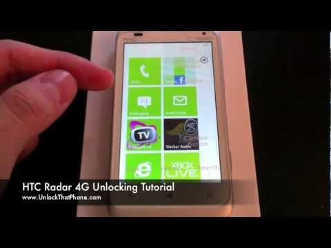 How to Unlock HTC Radar 4G with Code + Full Unlocking Tutorial!! at&t tmobile rogers bell o2 orange