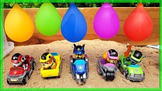 Paw Patrol Baloon Smash Race and Learn Colors