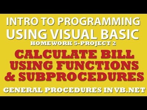 5-pp2 Visual Basic: Calculate a Bill Using Functions and Sub Procedures