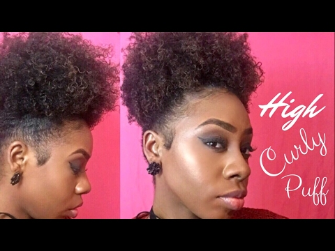 High Curly Hair Ponytail Puff Short Natural Hair Iamtravia Youtube