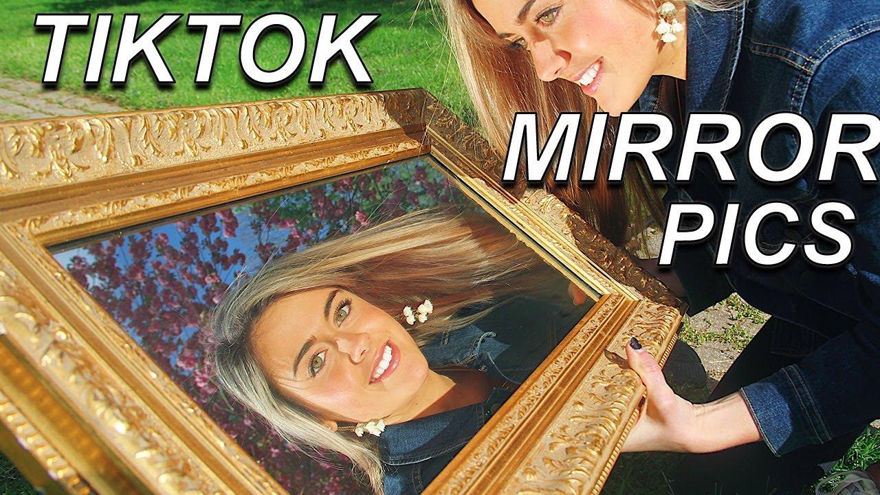How To Do The Tiktok Mirror Trend Outside Mirror Photoshoot Youtube