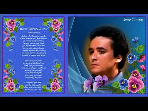"(Jose) Josep Carreras, one of the greatest tenors of 2 centuries sings ""Mille Cherubini In Coro""."
