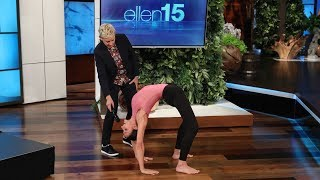 Pole Dancer Marion Crampe Stuns Ellen with Her Impressive Moves
