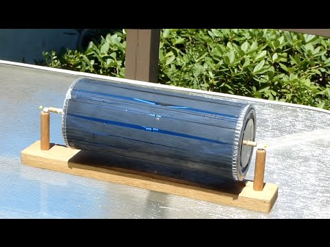 Solar motor--Free energy motor-- not electrical /// Homemade