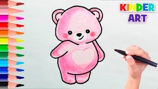 Как нарисовать плюшевого мишку Тедди поэтапно | How to draw a cute Teddy bear