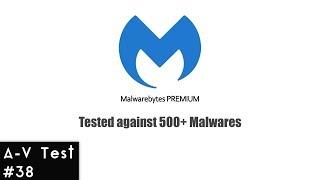 Malwarebytes Premium 2019 | A-V Test #38