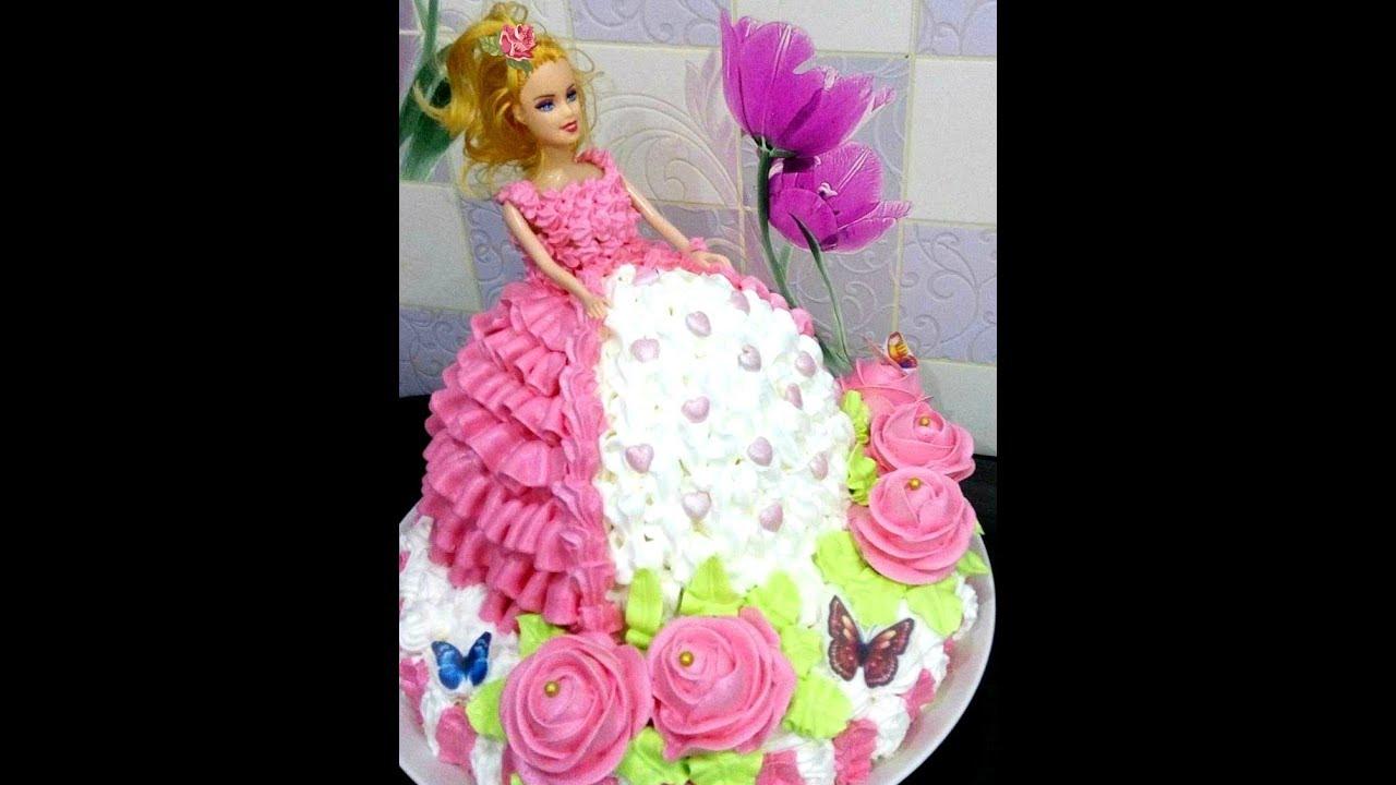 Как сделать торт с куклой барби самой фото 916