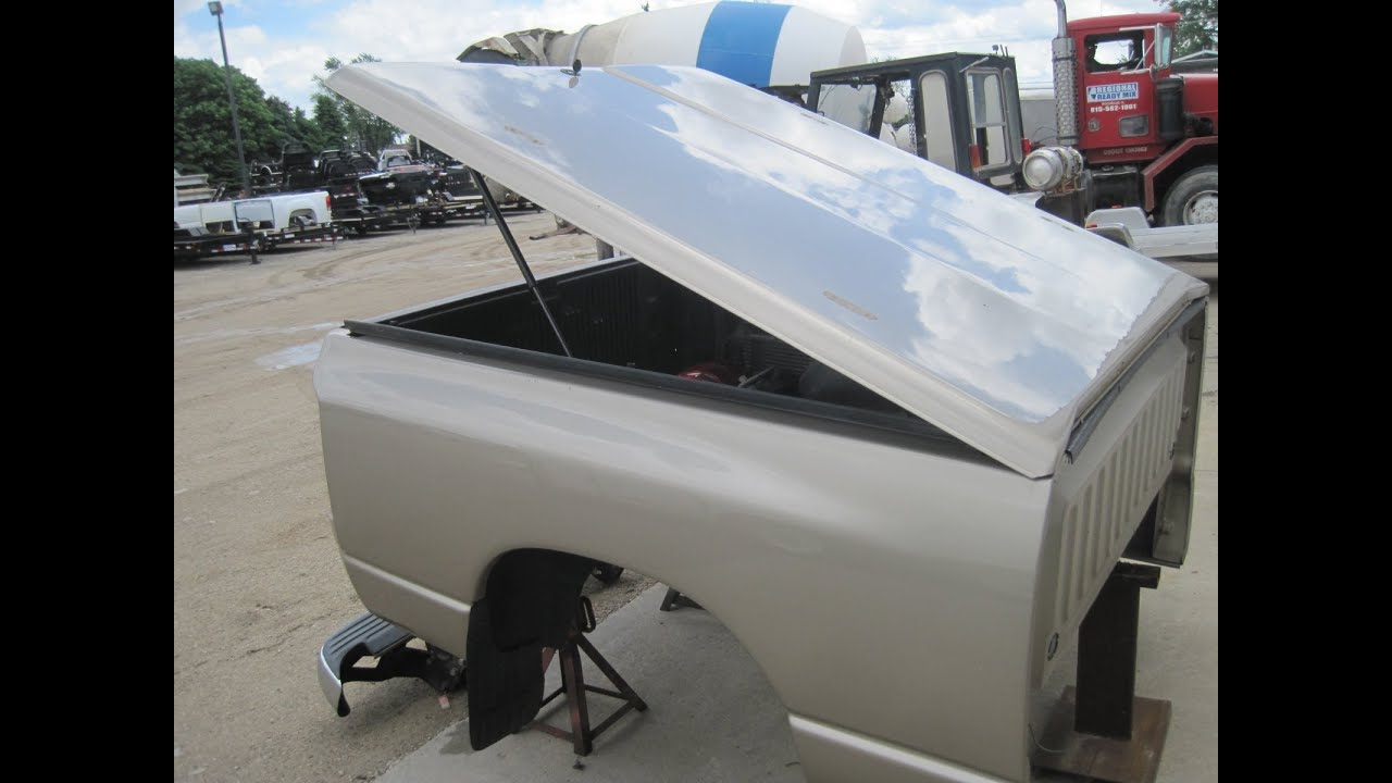 Used 02 09 Dodge Ram Hard Shell Fiberglass Tonneau Cover