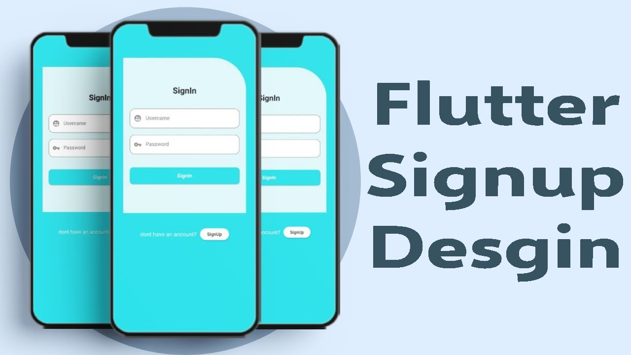Flutter  - Sign up Page || Speed Code