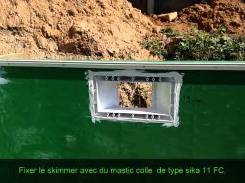 montage octogonale piscines bois composite - YouTube